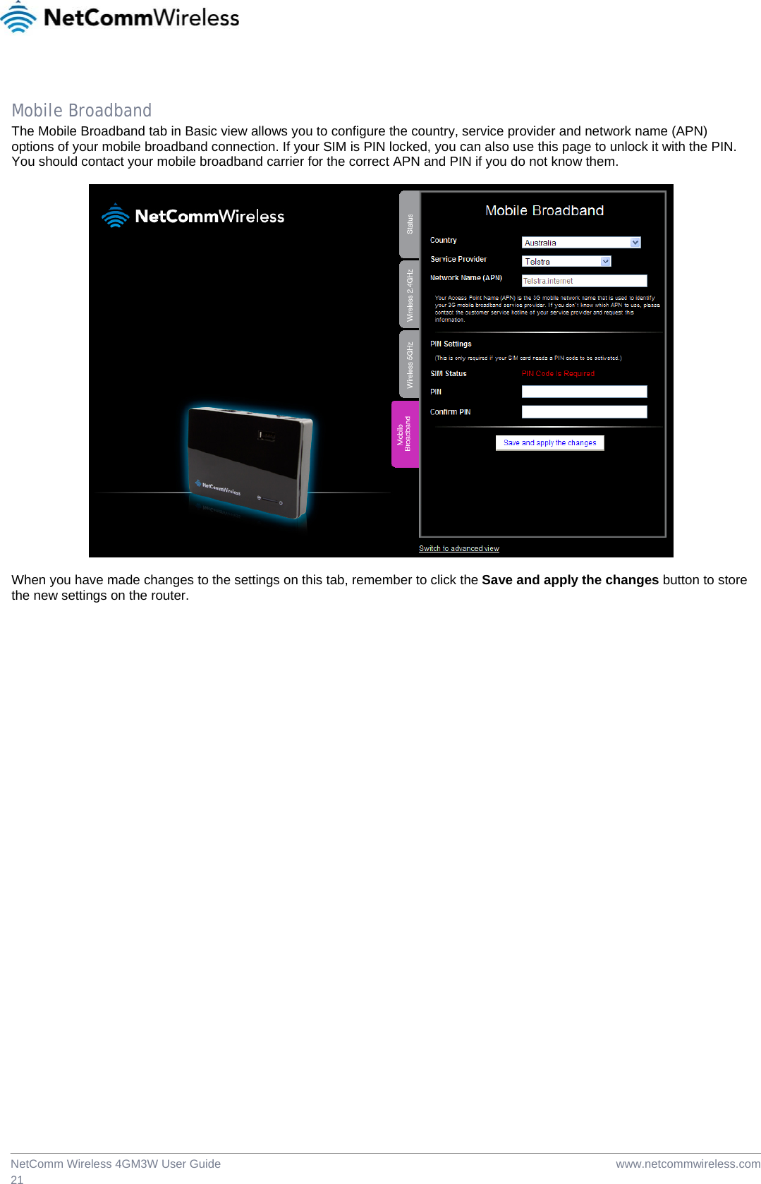 3g wifi router user manual