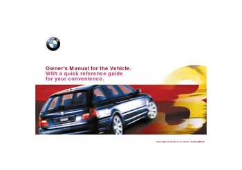 2001 bmw 325i owners manual free download